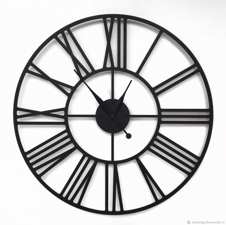 """Часы для дома ручной работы. Ярмарка Мастеров - ручная работа. Купить Большие настенные часы 80см с увеличенными стрелками """"Rooma S"""". Handmade."""