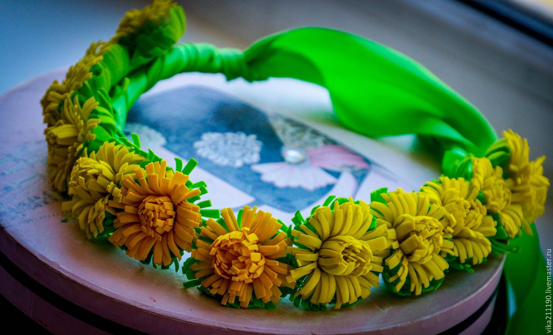 Ободок венок из цветов