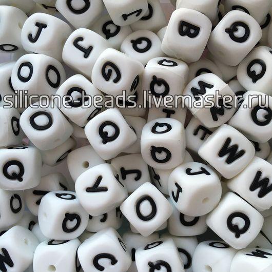 Для украшений ручной работы. Ярмарка Мастеров - ручная работа. Купить Силиконовые бусины-кубики с буквами (пищевой силикон). Handmade.