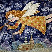 """Картины и панно ручной работы. Ярмарка Мастеров - ручная работа панно """" Ангел в небе"""". Handmade."""