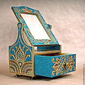 Для дома и интерьера ручной работы. Ярмарка Мастеров - ручная работа Мини-комод с зеркалом в индийском стиле. Handmade.