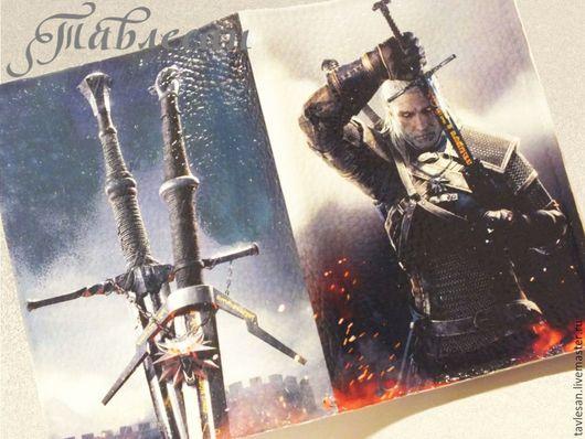 """Обложки ручной работы. Ярмарка Мастеров - ручная работа. Купить Обложка для паспорта """"Ведьмак с мечом"""" кожа для мужчины. Handmade."""