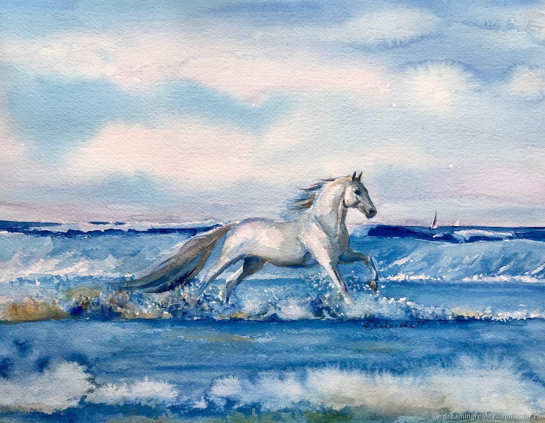 Лошадь – заказать на Ярмарке Мастеров – E0ZE9RU | Картины, Москва