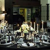 Подарки к праздникам ручной работы. Ярмарка Мастеров - ручная работа Оформление званного ужина (черно белая гамма). Handmade.