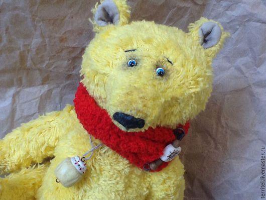 Мишки Тедди ручной работы. Ярмарка Мастеров - ручная работа. Купить Винни Пух. Handmade. Желтый, мишка ручной работы
