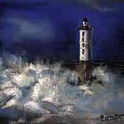 Картины и панно handmade. Livemaster - original item Pastel Painting another LIGHTHOUSE in the distance. Handmade.