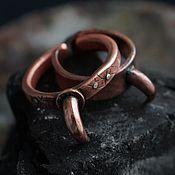 """Украшения ручной работы. Ярмарка Мастеров - ручная работа """"Птичий коготь"""" - медное кольцо. Handmade."""