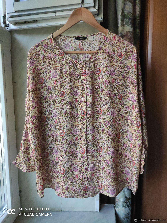 Винтаж:  Блузка из шелка Люкс! Massimo Dutti Испания, Одежда винтажная, Гатчина,  Фото №1
