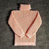 Одежда handmade. Livemaster - original item Sweater female knitted, peach (No. №419). Handmade.