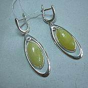 Украшения handmade. Livemaster - original item Earrings LIRA AMBER,925 sterling silver.. Handmade.