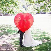 """Свадебный салон ручной работы. Ярмарка Мастеров - ручная работа Зонт """"Сердце"""". Handmade."""