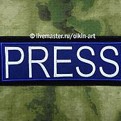 Материалы для творчества ручной работы. Ярмарка Мастеров - ручная работа нашивка наспинная PRESS (на синем фетре). Handmade.