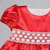 Работы для детей, ручной работы. Ярмарка Мастеров - ручная работа Платье для девочки Алый аленький цветочек нарядное. Handmade.