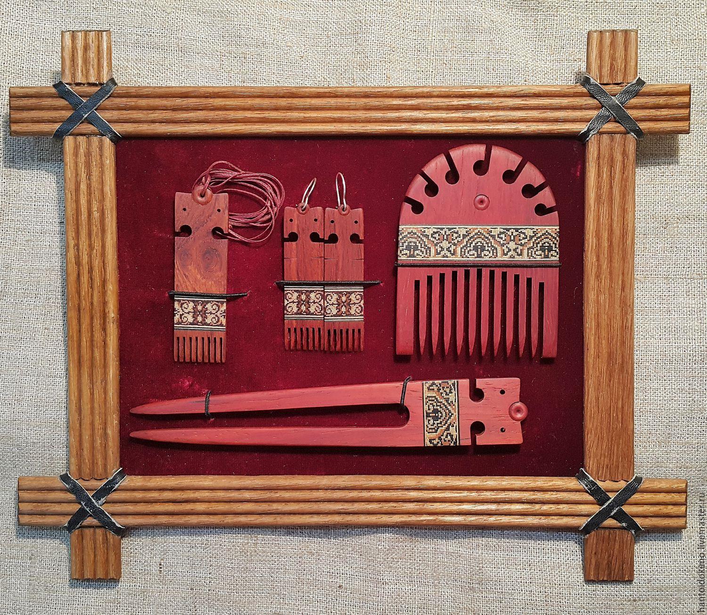 Set Decoration for women mahogany inlay mosaic wooden comb hairpin