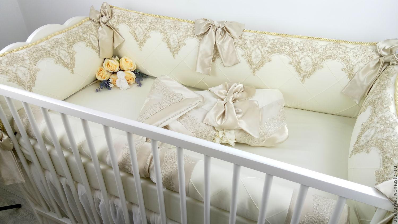 Вышивка на бортик в кроватку