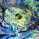Фантазийные сюжеты ручной работы. Ярмарка Мастеров - ручная работа. Купить акварель рыба-луна и стихи Лермонтова. Handmade. Синий