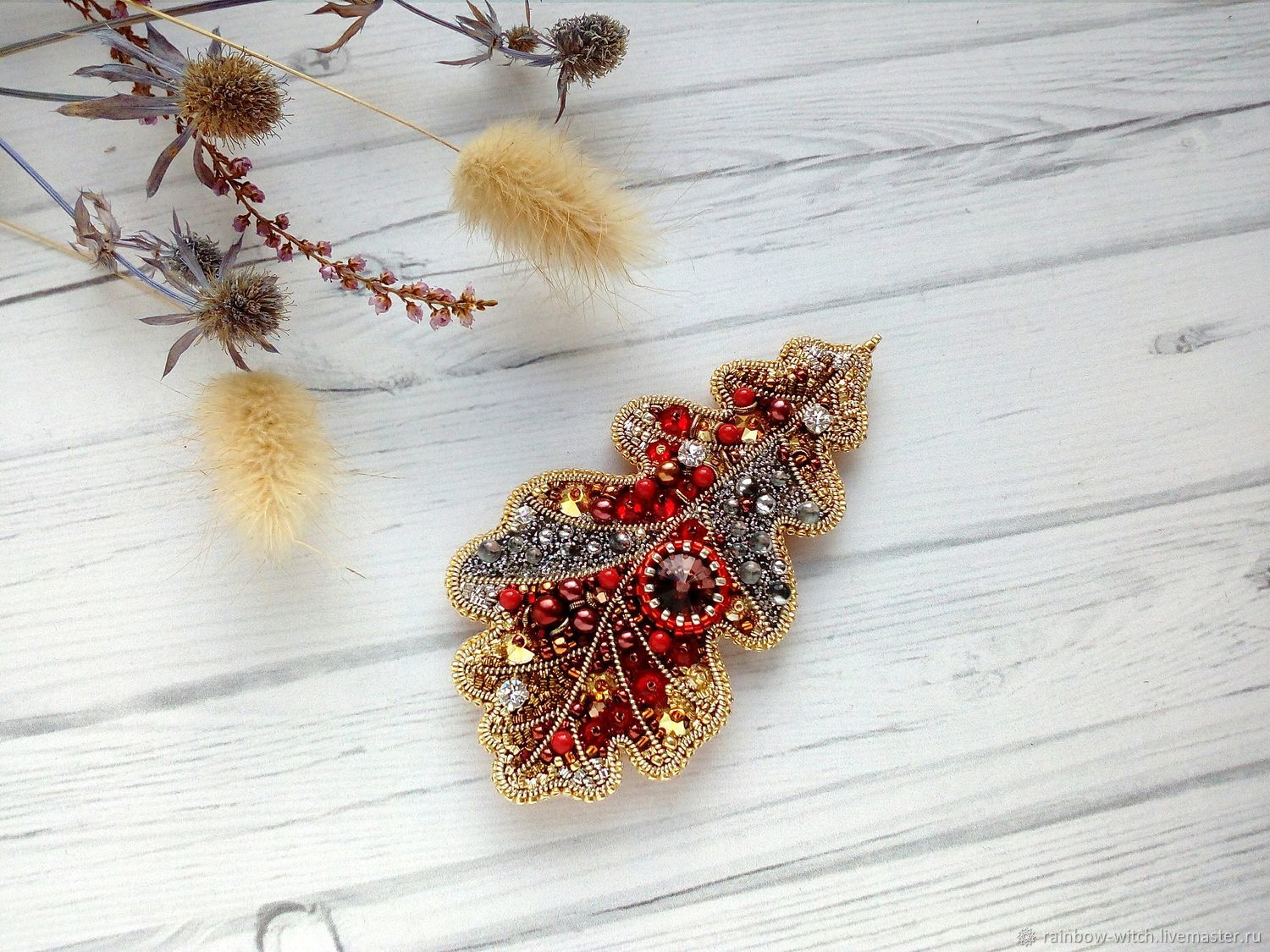 17a943a6ba0 Brooches handmade. Livemaster - handmade. Buy Brooch 'the Last leaf of  autumn' ...