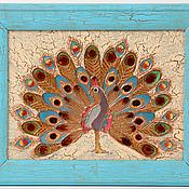 """Картины и панно ручной работы. Ярмарка Мастеров - ручная работа Панно """"Павлин"""". Handmade."""