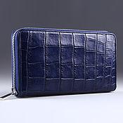 Сумки и аксессуары handmade. Livemaster - original item Crocodile leather wallet with one zipper IMA0032VC45. Handmade.