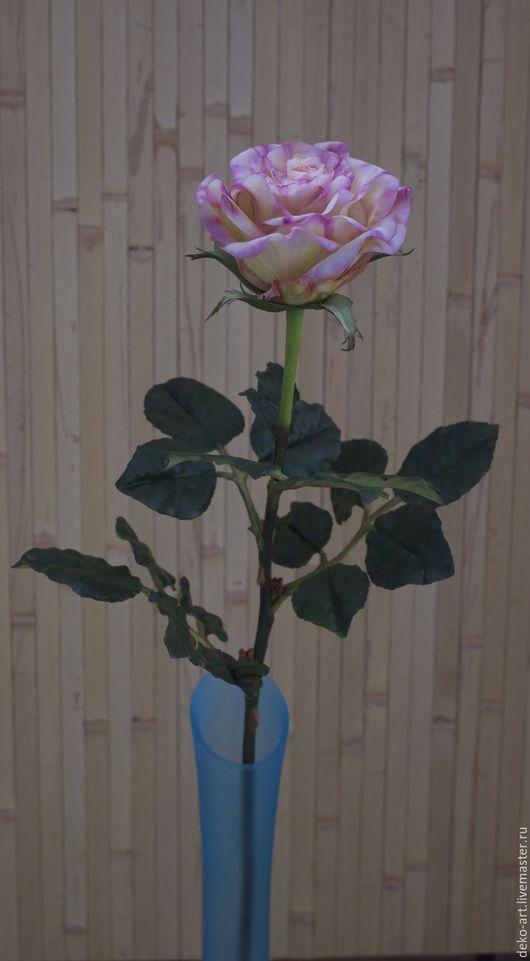 Цветы ручной работы. Ярмарка Мастеров - ручная работа. Купить Роза полнометражная. Handmade. Бледно-сиреневый, полимерная глина, цветочки