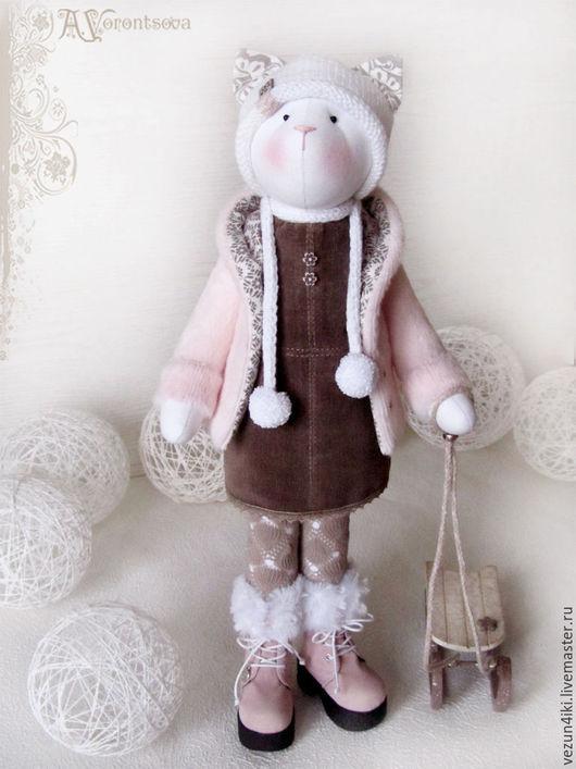 """Куклы Тильды ручной работы. Ярмарка Мастеров - ручная работа. Купить Кошка """"На закат ты розовый похожа..."""". Handmade."""