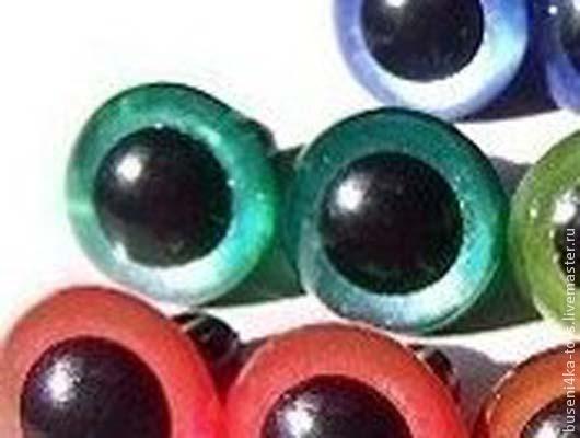 """Куклы и игрушки ручной работы. Ярмарка Мастеров - ручная работа. Купить 12мм Глаза для игрушек (темно-зеленые) 2шт. """"3432"""". Handmade."""
