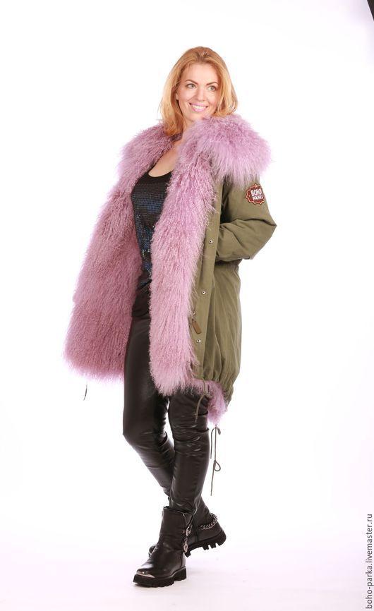 Верхняя одежда ручной работы. Ярмарка Мастеров - ручная работа. Купить Куртка универсальная на меховой подкладке лиловая. Handmade. Разноцветный