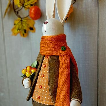 Куклы и игрушки ручной работы. Ярмарка Мастеров - ручная работа Осенний зайчик.. Handmade.
