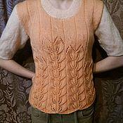 Блузки ручной работы. Ярмарка Мастеров - ручная работа Вязаная блузка. Handmade.