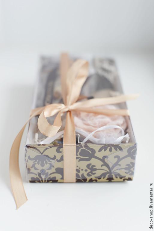 Подарочные наборы ручной работы. Ярмарка Мастеров - ручная работа. Купить Подарочный набор с шелковым платком. Handmade. Коричневый