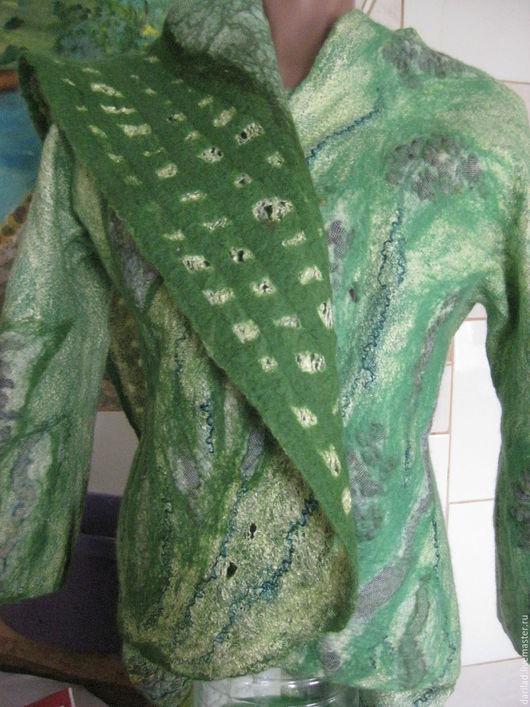 """Пиджаки, жакеты ручной работы. Ярмарка Мастеров - ручная работа. Купить Жакет""""Зелень"""". Handmade. Зеленый, жакет ручной работы"""