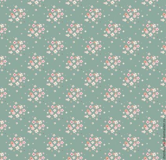 Куклы и игрушки ручной работы. Ярмарка Мастеров - ручная работа. Купить Ткань Tilda Jean blue green (TF- 804). Handmade.