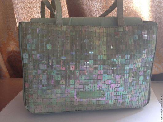 Винтажные сумки и кошельки. Ярмарка Мастеров - ручная работа. Купить DNKY нарядная сумочка, винтаж, оригинал. Handmade. Бирюзовый