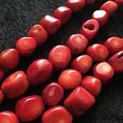 """Бусины ручной работы. Ярмарка Мастеров - ручная работа Бусина """"Пенечки"""" (41), коралл. Handmade."""