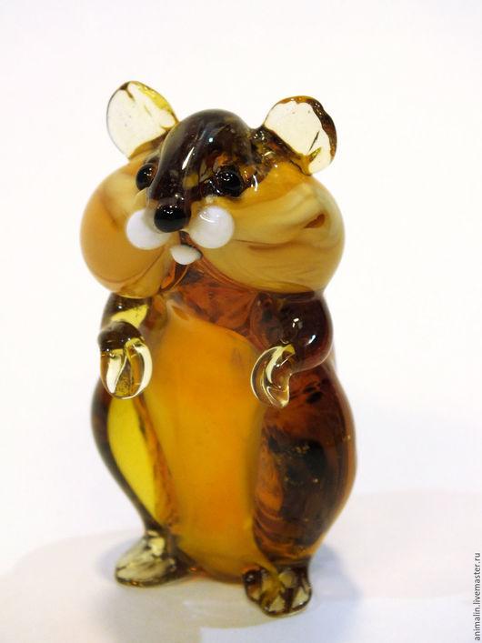 Статуэтки ручной работы. Ярмарка Мастеров - ручная работа. Купить Декоративная фигурка из цветного стекла Хомяк Мыкола и Мыкола Хомяк. Handmade.