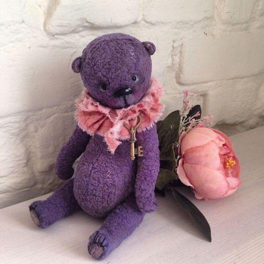 Мишки Тедди ручной работы. Ярмарка Мастеров - ручная работа. Купить Мишка Тедди фиолетовый. Handmade. Плюшевый мишка, тедди