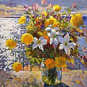 """Картины и панно handmade. Livemaster - original item Painting """"Flower Beach"""". Handmade."""