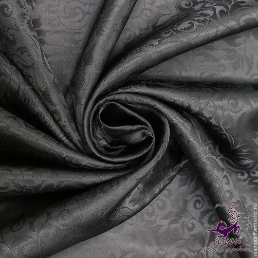 """Шитье ручной работы. Ярмарка Мастеров - ручная работа. Купить Подкладка из шелковой вискозы """"Черные ветрчки"""". Handmade. Черный"""