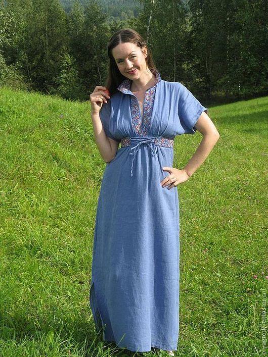 Одежда ручной работы. Ярмарка Мастеров - ручная работа. Купить Платье -рубаха в русском стиле. Handmade. Платье, платье-рубаха