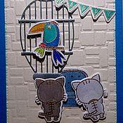 Открытки ручной работы. Ярмарка Мастеров - ручная работа Мы охотники за удачей - Птицей цвета ультрамарин!. Handmade.