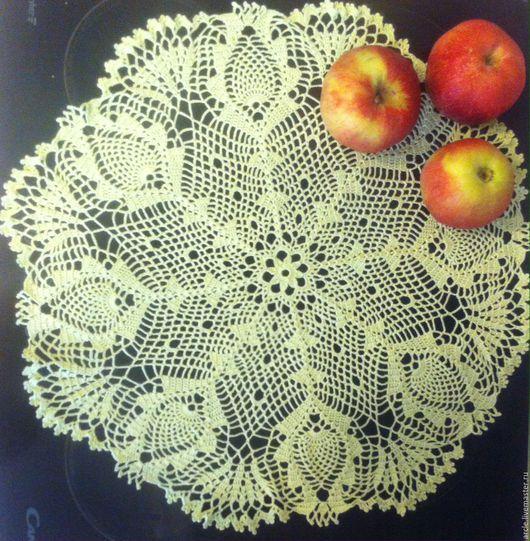 Текстиль, ковры ручной работы. Ярмарка Мастеров - ручная работа. Купить Ажурная салфетка. Handmade. Салатовый, салфетка крючком