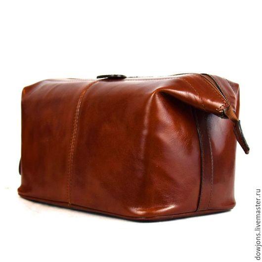 Мужские сумки ручной работы. Ярмарка Мастеров - ручная работа. Купить Нессесер из натуральной кожи.. Handmade. Рыжий, рыжий цвет