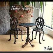 Куклы и игрушки ручной работы. Ярмарка Мастеров - ручная работа Кукольная мебель (стол, стулья) из полимерной глины. Handmade.