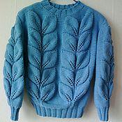 """Одежда ручной работы. Ярмарка Мастеров - ручная работа свитер """"Голубая Весна"""". Handmade."""