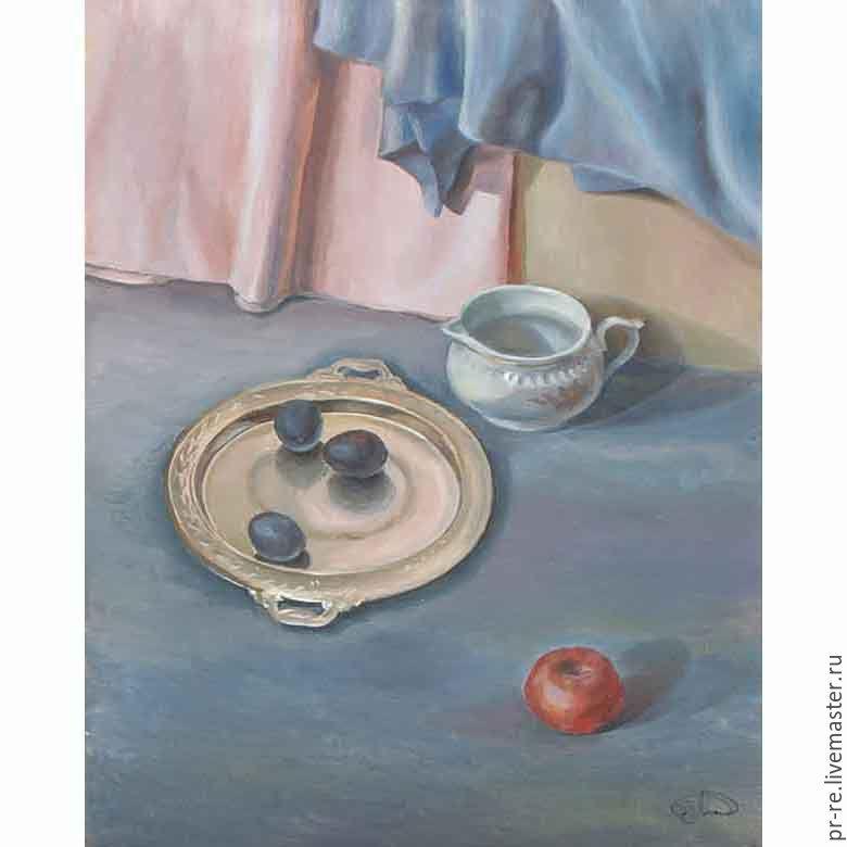 Натюрморт со сливами. Цифровой файл, Картины, Волгоград,  Фото №1