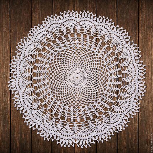 Текстиль, ковры ручной работы. Ярмарка Мастеров - ручная работа. Купить Салфетка №32. Handmade. Белый, салфетка, Вязание крючком