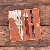 Сумки и аксессуары handmade. Livemaster - original item Travel holder for 1 passport made of leather.. Handmade.