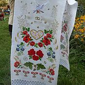 Свадебный салон ручной работы. Ярмарка Мастеров - ручная работа Свадебный рушник оберег. Handmade.