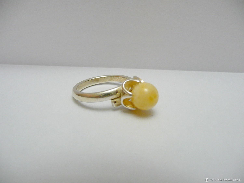 Ring made of amber 'Sparkle' R-80, Rings, Svetlogorsk,  Фото №1