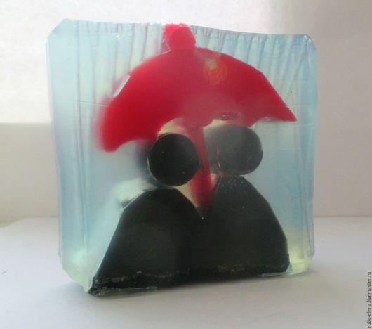 """Мыло ручной работы. Ярмарка Мастеров - ручная работа. Купить """"Один зонтик на двоих"""" (мыло). Handmade. Ярко-красный, мыловарка"""